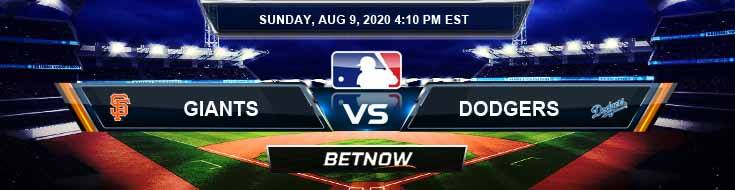 San Francisco Giants vs Los Angeles Dodgers 08-09-2020 MLB Previews Predictions and Baseball Spread