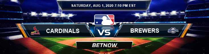St. Louis Cardinals vs Milwaukee Brewers 08-01-2020 MLB Analysis Results and Baseball Odds