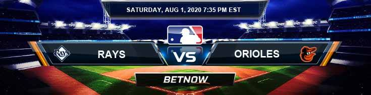 Tampa Bay Rays vs Baltimore Orioles 08-01-2020 MLB Odds Picks and Betting Predictions