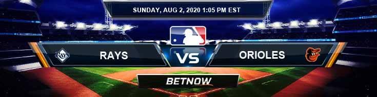 Tampa Bay Rays vs Baltimore Orioles 08-02-2020 MLB Results Analysis and Baseball Forecast