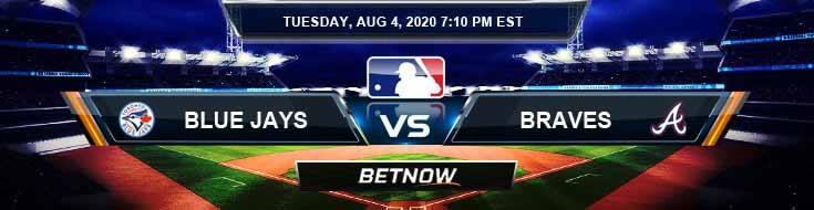 Toronto Blue Jays vs Atlanta Braves 08-04-2020 MLB Picks Predictions and Baseball Previews
