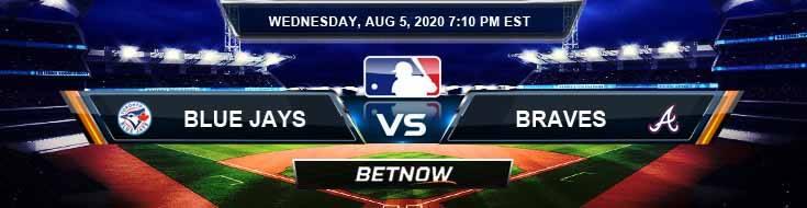 Toronto Blue Jays vs Atlanta Braves 08-05-2020 MLB Spread Game Analysis and Baseball Betting