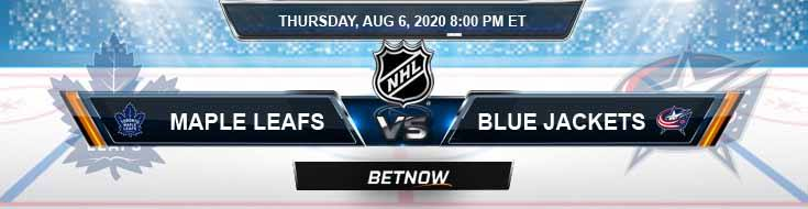 Toronto Maple Leafs vs Columbus Blue Jackets 08-06-2020 NHL Game Analysis Prediction and Odds