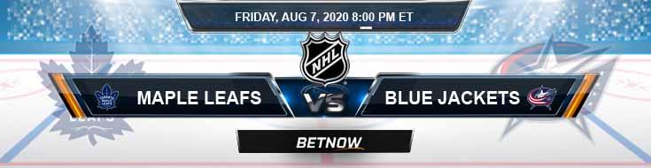 Toronto Maple Leafs vs Columbus Blue Jackets 08-07-2020 NHL Odds Previews & Spread