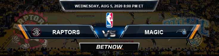 Toronto Raptors vs Orlando Magic 8-5-2020 Spread Picks and Previews