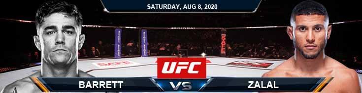 UFC Fight Night 174 Barrett vs Zalal 08-08-2020 Analysis Odds and Picks