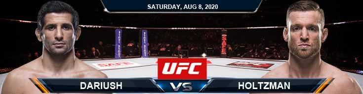 UFC Fight Night 174 Dariush vs Holtzman 08-08-2020 Spread Fight Analysis and Forecast
