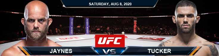 UFC Fight Night 174 Jaynes vs Tucker 08-08-2020 Results Analysis and Odds