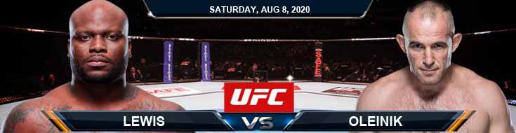 UFC Fight Night 174 Lewis vs Oleynik 08-08-2020 Odds Picks and Predictions