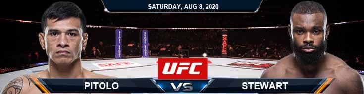 UFC Fight Night 174 Pitolo vs Stewart 08-08-2020 Predictions Previews and Spread