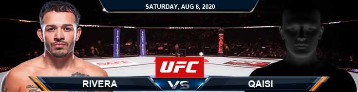 UFC Fight Night 174 Rivera vs Qaisi 08-08-2020 Odds Picks and Predictions