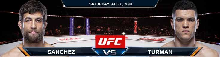 UFC Fight Night 174 Sanchez vs Turman 08-08-2020 Tips Results and Analysis