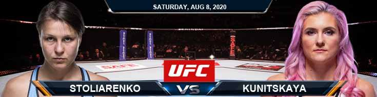 UFC Fight Night 174 Stoliarenko vs Kunitskaya 08-08-2020 Previews Spread and Fight Analysis