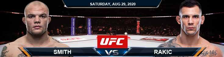 UFC Fight Night 175 Smith vs Rakic 08-29-2020 Fight Analysis Tips and Odds