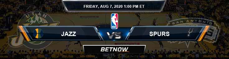 Utah Jazz vs San Antonio Spurs 8-7-2020 Odds Picks and Game Analysis