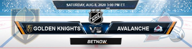 Vegas Golden Knights vs Colorado Avalanche 08-08-2020 NHL Predictions Spread and Previews