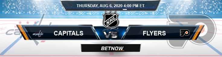Washington Capitals vs Philadelphia Flyers 08-06-2020 NHL Picks Spread and Predictions