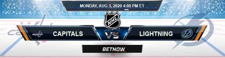 Washington Capitals vs Tampa Bay Lightning 08-03-2020 NHL Spread Game Analysis and Betting Odds