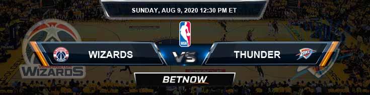 Washington Wizards vs Oklahoma City Thunder 8-9-2020 NBA Spread and Picks