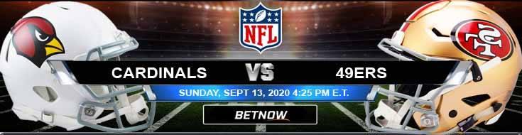 Arizona Cardinals vs San Francisco 49ers 09-13-2020 Predictions Previews and Spread