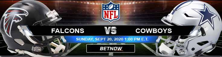 Atlanta Falcons vs Dallas Cowboys 09-20-2020 Predictions Previews and Spread
