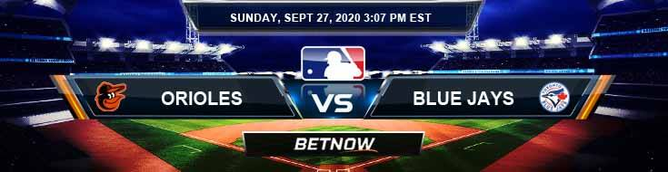 Baltimore Orioles vs Toronto Blue Jays 09-27-2020 Picks Odds and Results