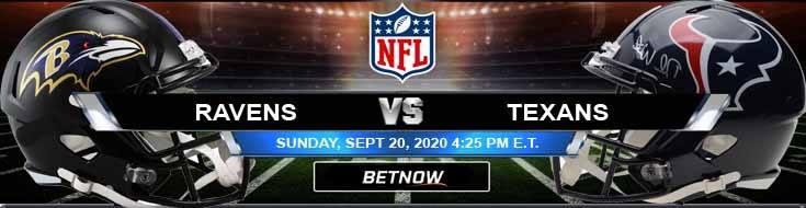 Baltimore Ravens vs Houston Texans 09-20-2020 Predictions Previews and Spread