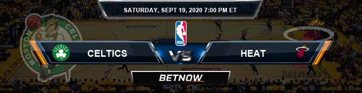 Boston Celtics vs Miami Heat 9-19-2020 Picks Previews and Prediction