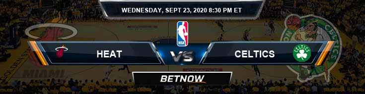 Boston Celtics vs Miami Heat 9-23-2020 Odds Previews and Prediction