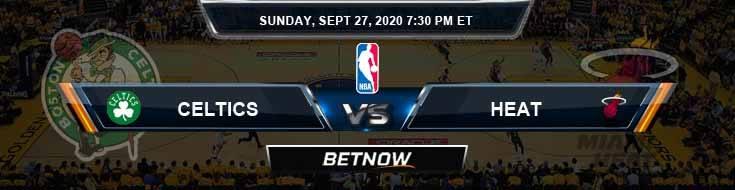 Boston Celtics vs Miami Heat 9-27-2020 Odds Previews and Prediction