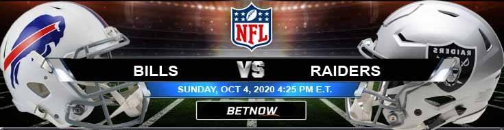 Buffalo Bills vs Las Vegas Raiders 10-04-2020 Picks Predictions and Previews