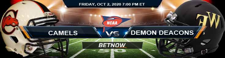 Campbell Fighting Camels vs Wake Forest Demon Deacons 10-02-2020 NCAAF Odds Picks & Predictions