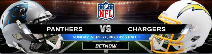 Carolina Panthers vs Los Angeles Chargers 09-27-2020 Football Betting Odds and Picks