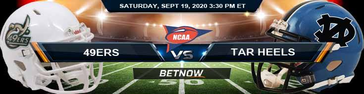 Charlotte 49ers vs North Carolina Tar Heels 09-19-2020 NCAAF Picks Predictions & Previews