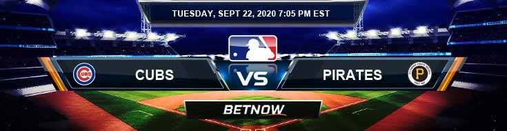 Chicago Cubs vs Pittsburgh Pirates 09-22-2020 Baseball Betting Tips and Forecast