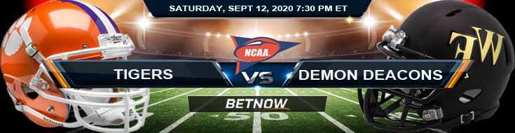 Clemson Tigers vs Wake Forest Demon Deacons 09-12-2020 NCAAF Game Analysis Previews & Spread