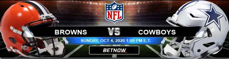 Cleveland Browns vs Dallas Cowboys 10042020 Football Betting, Odds and Picks