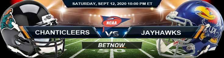 Coastal Carolina Chanticleers vs Kansas Jayhawks 09-12-2020 NCAAF Odds Picks & Predictions