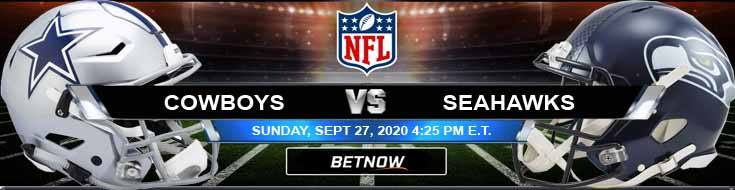 Dallas Cowboys vs Seattle Seahawks 09-27-2020 Predictions Previews and Spread