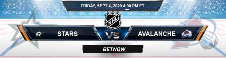 Dallas Stars vs Colorado Avalanche 09-04-2020 NHL Odds Previews & Spread