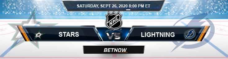 Dallas Stars vs Tampa Bay Lightning 09-26-2020 NHL Picks Predictions & Previews