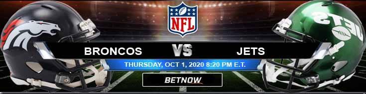 Denver Broncos vs New York Jets 10-01-2020 Odds Picks and Predictions