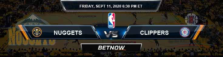 Denver Nuggets vs Los Angeles Clippers 9-11-2020 Odds Picks and Previews