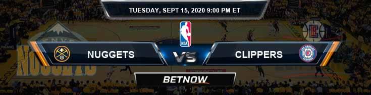 Denver Nuggets vs Los Angeles Clippers 9-15-2020 NBA Picks and Prediction