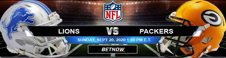 Detroit Lions vs Green Bay Packers 09-20-2020 Previews Spread and Game Analysis