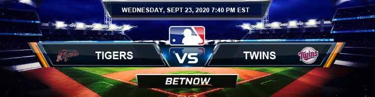 Detroit Tigers vs Minnesota Twins 09-23-2020 Odds Picks and Predictions