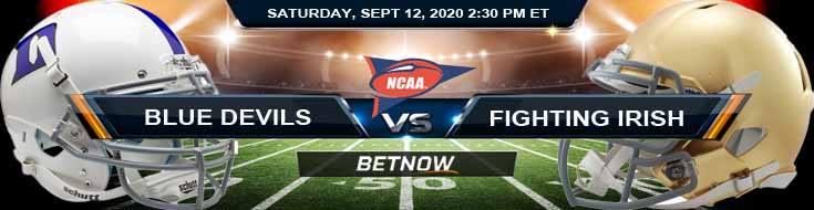 Duke Blue Devils vs Notre Dame Fighting Irish 09-12-2020 Forecast Analysis and Results