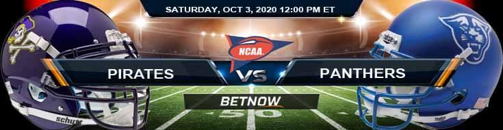 East Carolina Pirates vs Georgia State Panthers 10-03-2020 NCAAF Predictions Odds & Picks