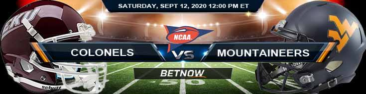 Eastern Kentucky Colonels vs West Virginia Mountaineers 09-12-2020 Spread Game Analysis and Tips