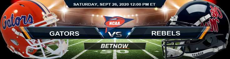 Florida Gators vs Ole Miss Rebels 09-26-2020 NCAAF Predictions Picks & Results